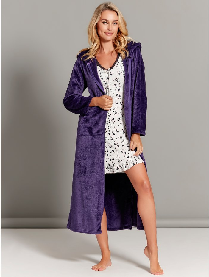 Floral Zip Front Dressing Gown Womens Dressing Gowns Mco