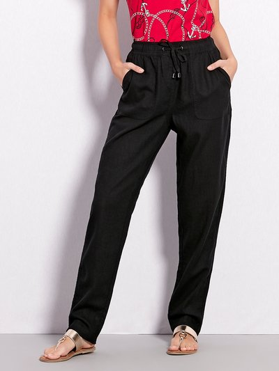 Slim leg linen trousers