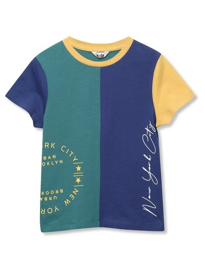 Slogan colour block t-shirt (3-12yrs)