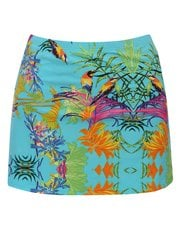 Hawaiian jungle print swim skirt