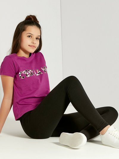 Teens' plain black leggings
