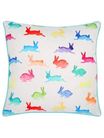 Rabbit print cushion