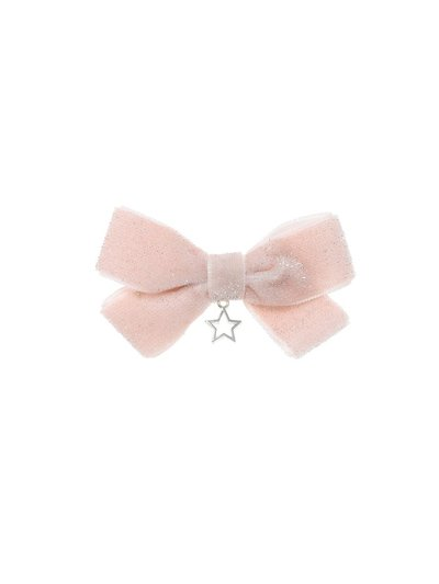 Pink Star Bow Drop Clip