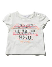 Giggle slogan heart t-shirt