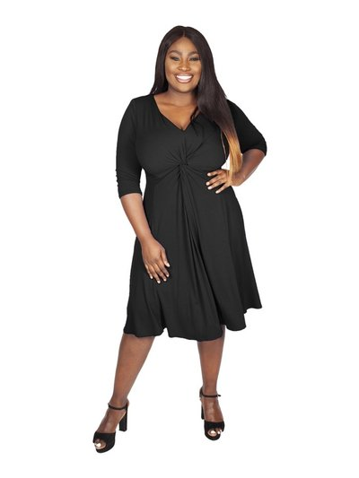 Scarlett and Jo plus black knot front dress