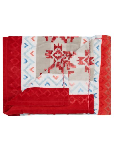 Fairisle fleece throw