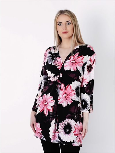 Wrapt London 3/4 Sleeve Floral Tunic