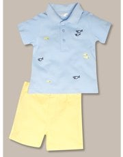 Polo And Shorts Outfit Set (Newborn-18mths)