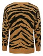 Animal print jumper