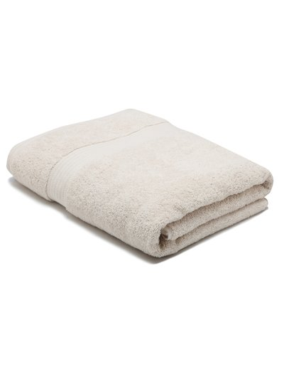 Grey combed cotton bath sheet