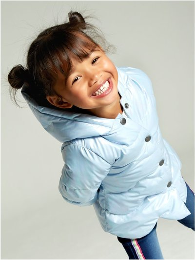 Iridescent scallop padded jacket (9 mths - 5 yrs)