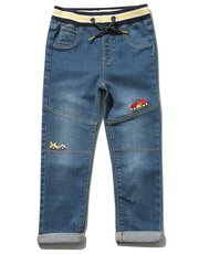 Car embroidered jeans (9mths-5yrs)