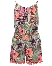 Teens' tropical print playsuit
