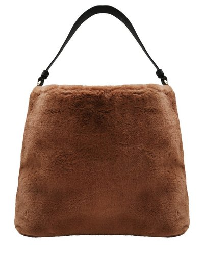 Faux fur hobo shoulder bag