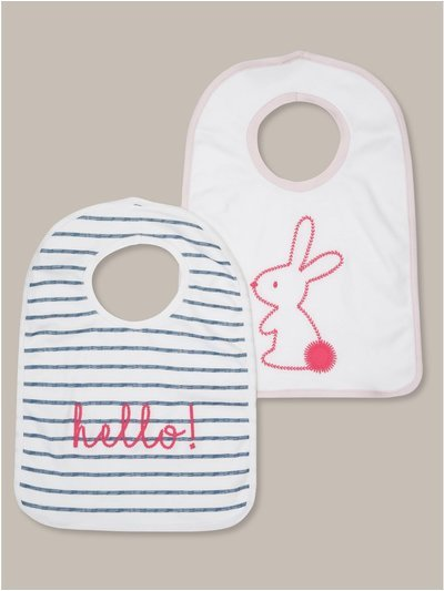 Striped bunny bibs two pack