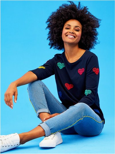 Khost Clothing embroidered heart sweatshirt