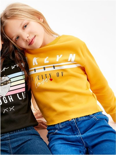 Brklyn slogan sweatshirt (3-12yrs)