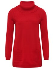 Roll neck tunic jumper