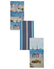 Nautical print tea towels three pack