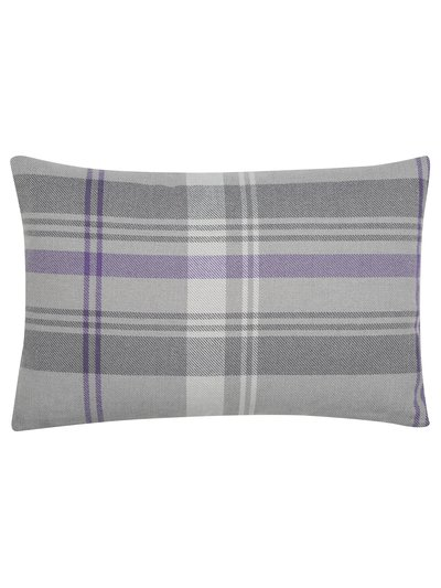 Charcoal check cushion