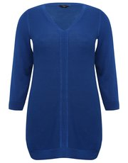 Plus ribbed tunic jumper