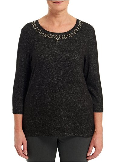 TIGI black beaded neck top