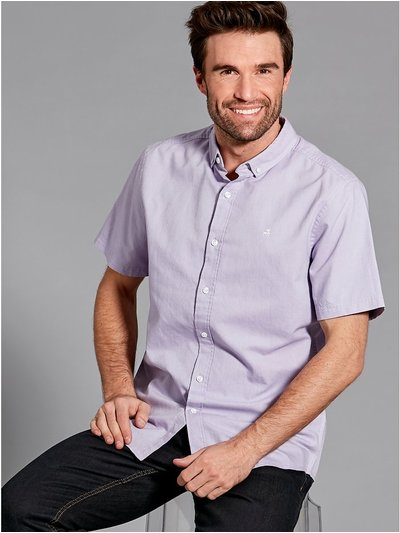 Chest embroidered oxford shirt