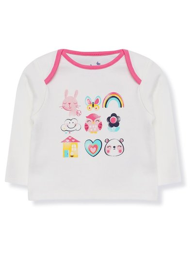 Rainbow animal t-shirt (Tiny baby - 18 mths)