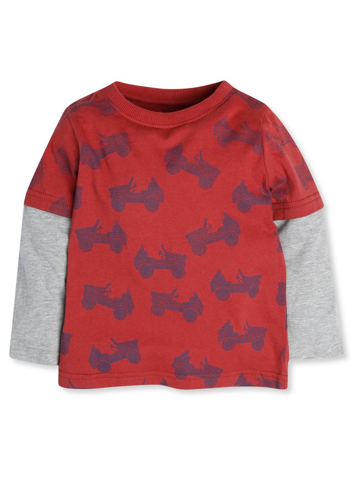Tractor print top (9mths-5yrs)