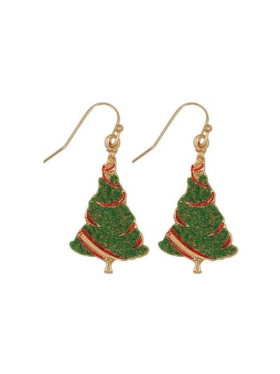 Novelty Christmas tree earrings