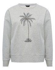 Embroidered palm tree sweatshirt