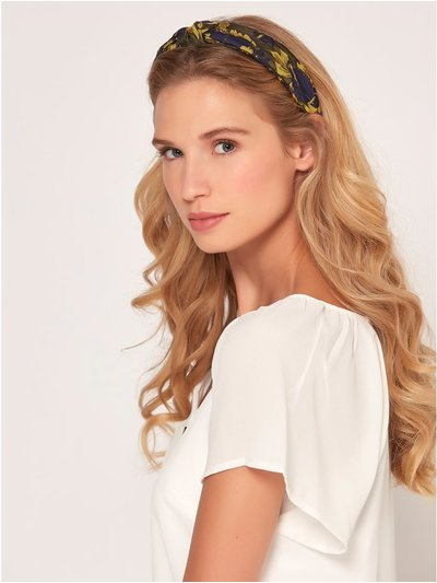 Muse jacquard fabric covered headband