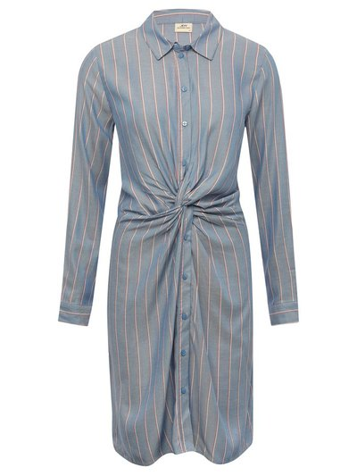 JDY striped knot shirt dress