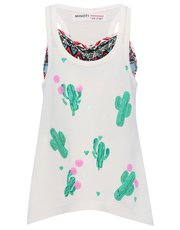 Minoti sequin cactus vest top and crop top set