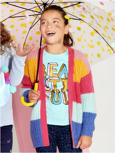 Rainbow stripe cardigan (3-12yrs)