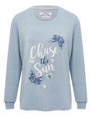 Chase the sun butterfly loungewear top