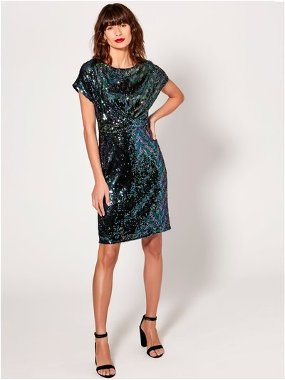 Sequin knot front dress