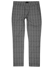 Grey checked trousers