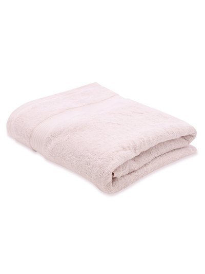Pink combed cotton bath sheet