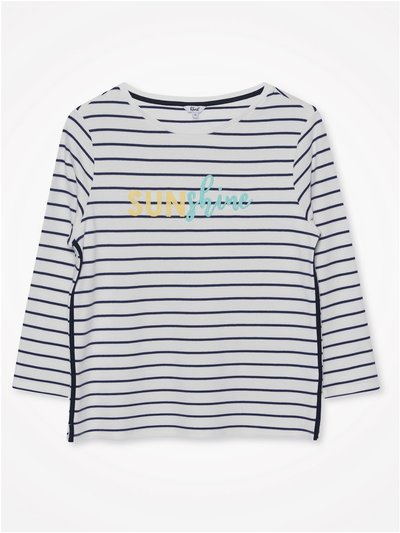 Khost Clothing sunshine striped t-shirt