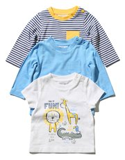 Animal stripe t-shirts three pack