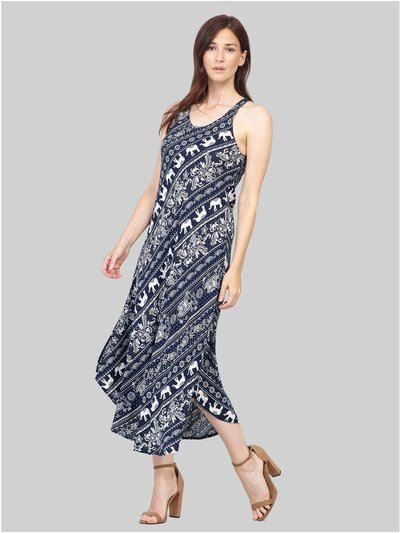 Izabel elephant print midi dress