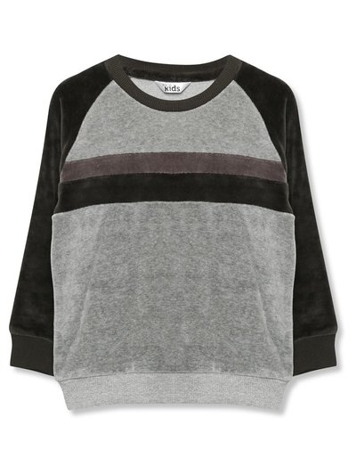 Stripe velour sweatshirt (9mths-5yrs)