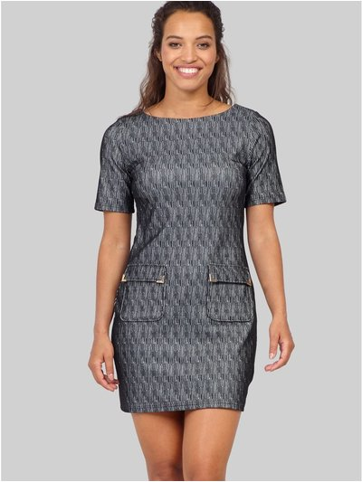 Izabel abstract print shift dress