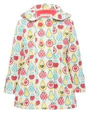 Minoti fruit print hooded jacket