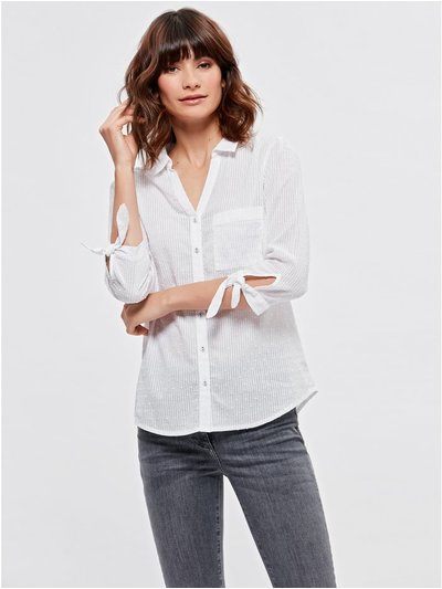 Spirit textured tie sleeve shirt