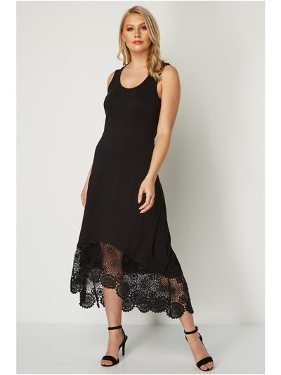 Roman Originals crochet hem midi dress