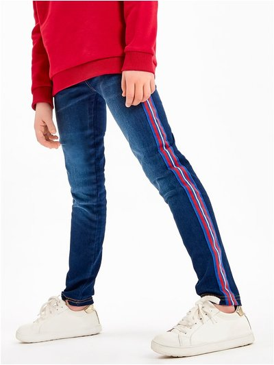 Side stripe jeggings (3-12yrs)