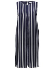 Plus stripe split tunic top