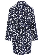 Heart wrap dressing gown